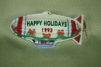 Hallmark Keepsake Ornament Tin Blimp Holiday Fliers Pressed Tin 1993 With Box