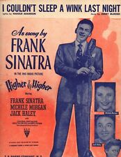 I Couldn't Sleep a Wink Last Night 1944 Piano Sheet Music Frank Sinatra