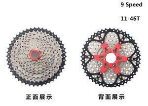 BOLANY Road Mountain Bike Cassette Sprocket 9 speed 11-46T MTB Bicycle Freewheel