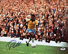Pele Autographed 11x14 Soccer Photo Brazil National Team - Signed PSA/DNA COA