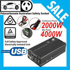 Car Inverter Modified Sine Wave 2000W(4000W Max)12V 240V 1A USB with Car Plug GA