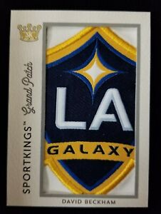 2020 DAVID BECKHAM SPORT KINGS VOLUME 2 GRAND PATCH 1/1 CREST LA GALAXY