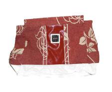 Miche Danielle Purse Handbag  2010 Brown Floral Tapestry Canvas Fabric NO STRAP