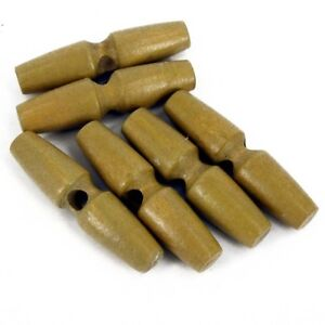 6 x Wooden toggle buttons single hole coats bags knitting jumpers Flag Pole B17