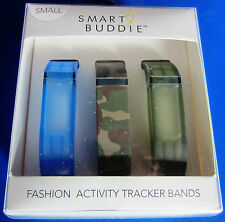 Smart Buddie Fashion Activity Tracker Bands - Size Small - Blue Green Camouflage