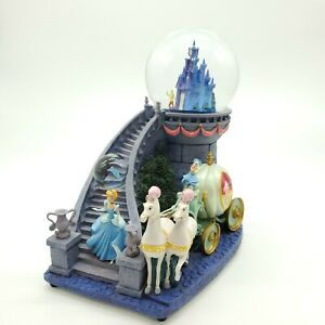 Disney Cinderella Musical Light Up Double Snow Globe Rare & Retired