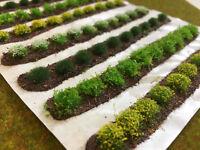 Large Farm Crops x8 Set 02 -Model Railway Grass Tufts Garden Field Scenery Strip