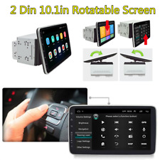 "2DIN Android8.1 Rotatable 10.1"" HD Touch Screen Car Stereo Radio GPS Wifi 3G 4G"