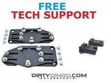 Dirty Dingo LS Swap Mounts 67-72 2WD Trucks with Rubber Mounts Plain Steel