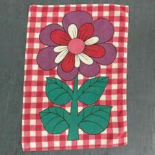 More details for vintage karsten tea towel - flowerpower floral pattern