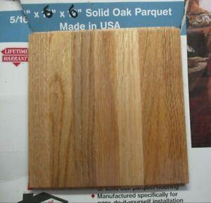 "Bruce 6"" X 6-1/16"" AHS-100 Oak Parquet Desert 7 Finger Strip Solid Wood Flooring"