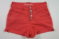 AEROPOSTALE Juniors/Womens High Rise Shorty Shorts Pink Denim Size Zero 000