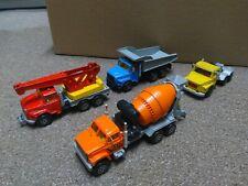 LOT - Majorette - 1/60 Trucks - Scania, Cement Mixer, Crane Truck, Dump Truck
