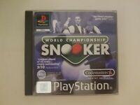 World Championship Snooker (Sony PlayStation 1) PS1 PAL European Complete