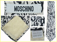 MOSCHINO Tie Man 100% Silk Made In Italy UNTIL - 80 % MO05 TOD0