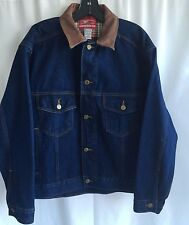 NWT VTG 90s MARLBORO COUNTRY STORE Jean Trucker Jacket Small Leather Collar NEW
