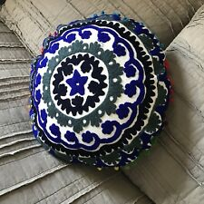 Hand Embroidered Suzani Pillow cover. Boho Hippie Pillow Cover. Dorm Room Decor.