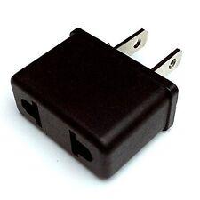 Flat Pins 2 X Plug Adapter European/USA Converter Travel 220V to 110V-US Seller