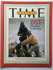 EDMUND HILLARY on MT. EVEREST 1953 The Year In Review TIME CAPSULE MAGAZINE