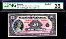 "CANADA BC9b $20 1935 ""PRINCESS ELIZABETH"" PMG 35! ENGLISH VERSION  GEM MARGINS"