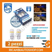 2 LAMPADINE PHILIPS 5W5 T10 12V LED 4000K ULTINON LED LUNGA DURATA 127994000KX2