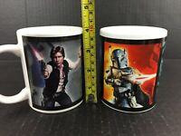 Star Wars Mug Set of 2 Heroes Villains Luke Han Solo Boba Fett Stormtrooper Yoda