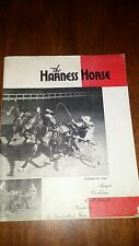 VINTAGE THE HARNESS HORSE  MAGAZINE..OCTOBER, 19 1955...VOL. 21...NO. 1
