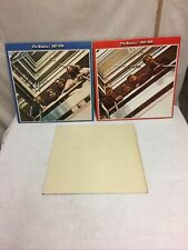 The Beatles Red,White&Blue Vinyl Albums Job Lot Of 3