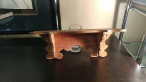 Handmade wood shelf