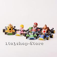 Furuta Mario Kart 7 PullBack  Racer Car Figure Collection 6 Pcs NEW