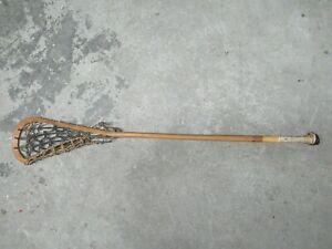 Vintage Antique Wooden Lacrosse