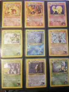 Pokemon Gym Challenge 132/132 Complete Full Sets Set Collection LP/NM
