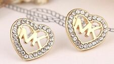 Earrings Boho Festival Party Boutique Uk Gold Bling Heart Stud Luxury Fashion