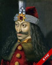 VLAD THE IMPALER TEPES DRACULA DRAGON PORTRAIT ART PAINTING REAL CANVAS PRINT