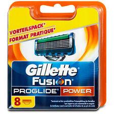 8 Gillette Fusion Proglide Power Rasierklingen