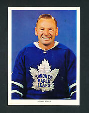 1963-65 CHEX CEREAL HOCKEY PHOTO JOHNNY BOWER TORONTO MAPLE LEAFS rare