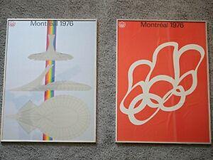 "Montreal Olympics original poster set framed 23"" x 33"" Big O stadium"