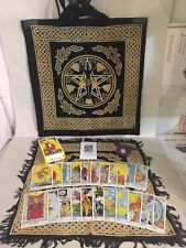 The Rider Waite Tarot Set- PLUS Goddess Tote & Layout Cloth, Rose Quartz & Bag