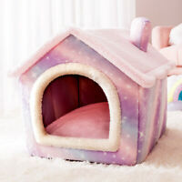 Removable Cat Bed House Kennel Nest Pet Nest  Warm House Cushion Sofa Bed
