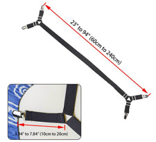 Bed Sheet Suspender Adjustable Crisscross Fitted Cover Ribbon Strap Grippers