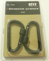 Set de 2 MOUSQUETON EN ALUMINIUM Diamètre: 8mm
