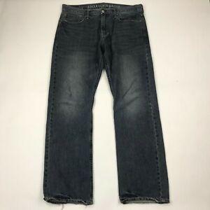 "American Eagle Men Relaxed Medium Wash Jeans sz 36x34 (Actual 38"" Waist)"