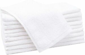 24X Guest Towels Hotel Quality Egyptian Cotton Soft 30 x 50cm Gym, Spa, Sport