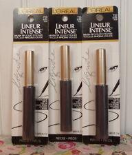 LOT OF 3 LOREAL LINEUR INTENSE BRUSH TIP LIQUID EYELINER BLACK 710 EYE LINER