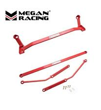 MEGAN RACING 4PCS FRONT + REAR LOWER CHASSIS BRACE FOR 06-11 LEXUS IS250 - RED