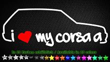 I Love My Corsa A Opel Gsi c20xe c20ne 16v EDM 20cm x 7cm