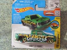 HOT WHEELS 2016 # 200/250 CHEVY SILVERADO Verde HW Arte Cars Funda Jarno