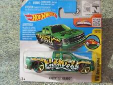 Hot Wheels 2016 #200/250 Chevy Silverado verde HW Arte coches caso J