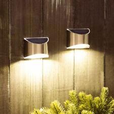 Garten LED Solarleuchte Wandleuchte Edelstahl Zaunleuchte Außenlampe Super hell