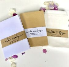 Confetti wedding Bags Glassine  or White/Brown Envelope  25/50 favours - Stamps-